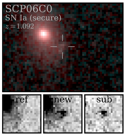 Example Type Ia Supernova from the HST Cluster Supernova Survey